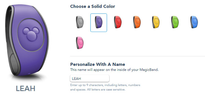 MagicBand custom colors