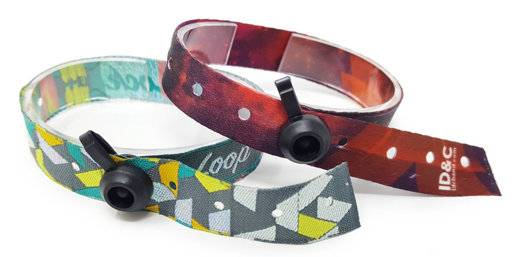 cloth loop lock wristbands