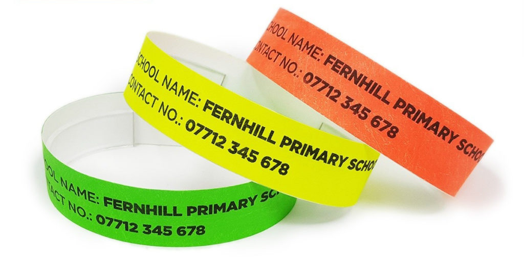 summer camp Tyvek wristbands