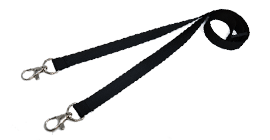Plain Event Lanyards With A Double Dog Clip