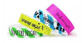Bonfire Night Tyvek Wristbands