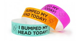 """I Bumped My Head"" Tyvek Wristband"