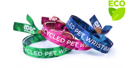 Recycled PET Fabric Wristband - Bamboo Lock