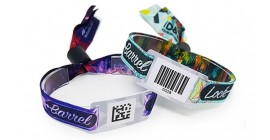 Fabric Barcode Tag Wristbands
