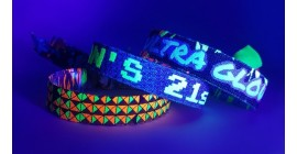 UV Reflective Neon Wristbands