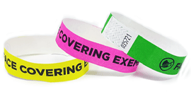 Face Covering Exempt Tyvek Wristbands
