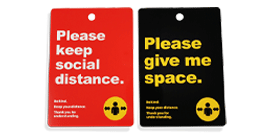 Social Distancing Awareness Event Badge and Lanyard