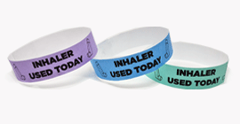 """Inhaler Used Today"" Tyvek Wristband"