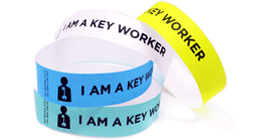 Key Worker Tyvek Wristbands