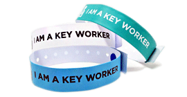 Key Worker Vinyl Wristband