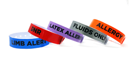 Medical Condition Alert Vinyl Wristbands
