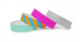Plain Paper Wristbands