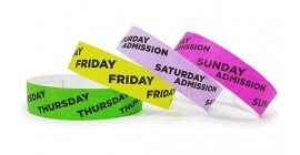 Daily Admission Tyvek Wristbands