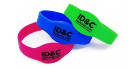 RFID Oval Face Silicone Wristband