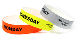Daily School Tyvek Wristbands