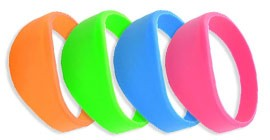 Stock RFID Silicone Wristbands