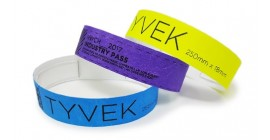 Tyvek Wristbands - Black Print