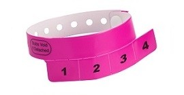Printed Removable Tab Wristband