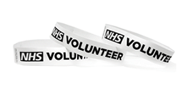 NHS Volunteer Tyvek Wristbands