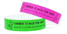 Kids Wash Your Hands Tyvek Wristband