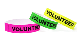 Volunteer Tyvek Wristbands