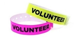 Volunteer Vinyl Wristband
