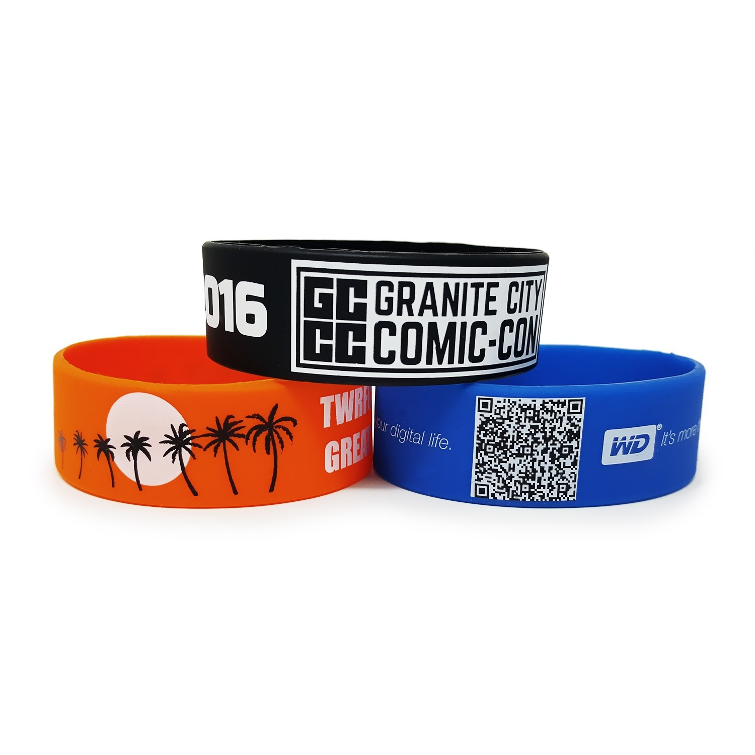 Rush 7 Day 100 Qty Custom Silicone Wristband Printed Your Logo// Message//Slogan