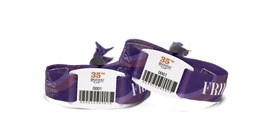 Custom Cloth Wristbands with Barcode Tag