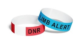 Medical Condition Alert Paper Wristbands