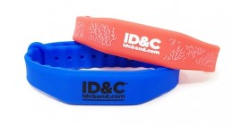 RFID Slim Adjustable Silicone Wristband