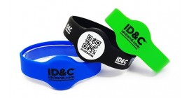 RFID Round Face Silicone Wristband
