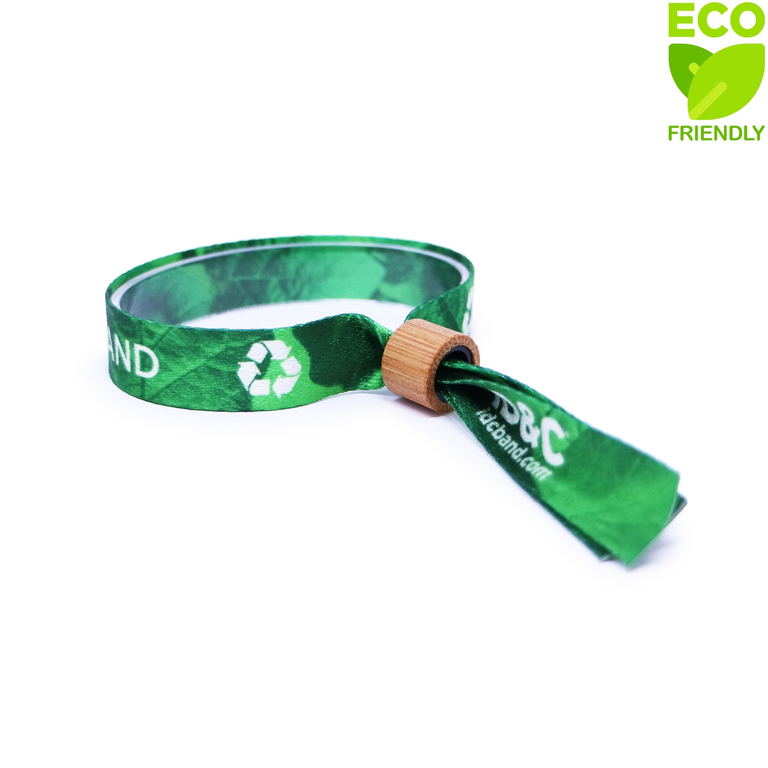 Recycled Cloth Wristband - Bamboo Lock