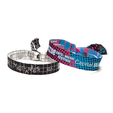 Woven Fabric Wristbands with Barrel Lock
