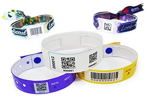 custom barcoded wristbands