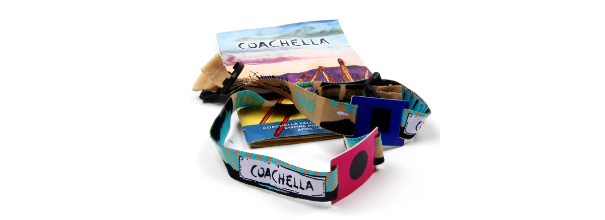 Coachella rfid wristbands