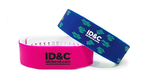 RFID Two Tone Silicone Adjustable wristband