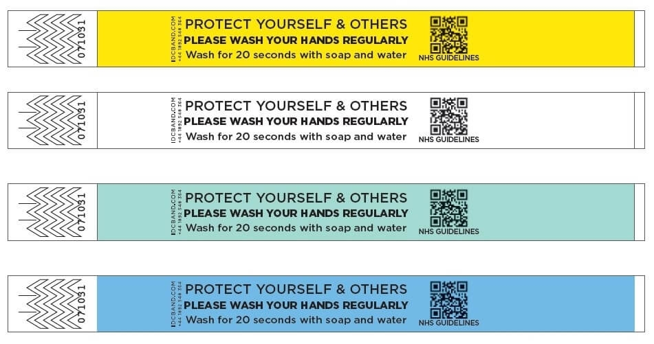 Wash Your Hands Reminder Wristbands