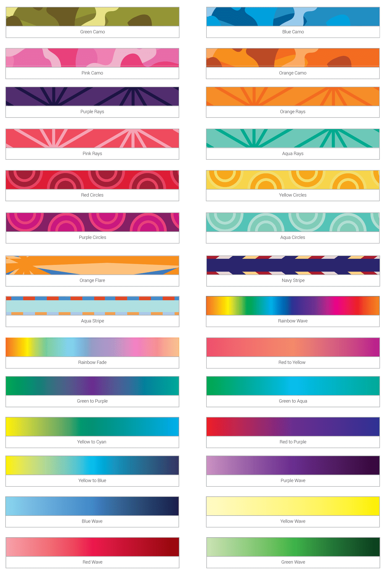 Full Colour Lanyard Base Designs