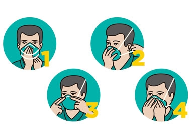 how to wear a disposable n95 mask