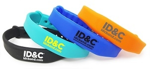 RFID Adjustable Slimline Silicone Wristband