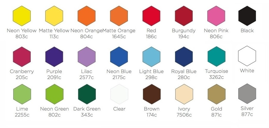 L Shape Vinyl Colors
