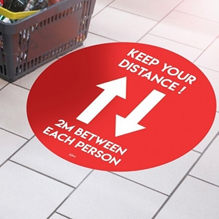 COVID-19 Label Signs & Floor Stickers