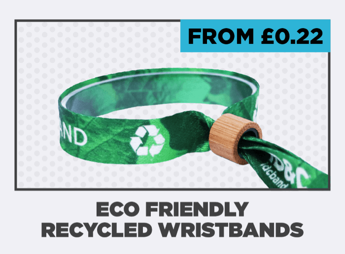 Eco Friendly Recycled Wristbands