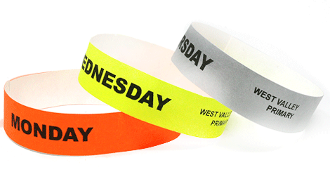 Daily School ID Wristbands