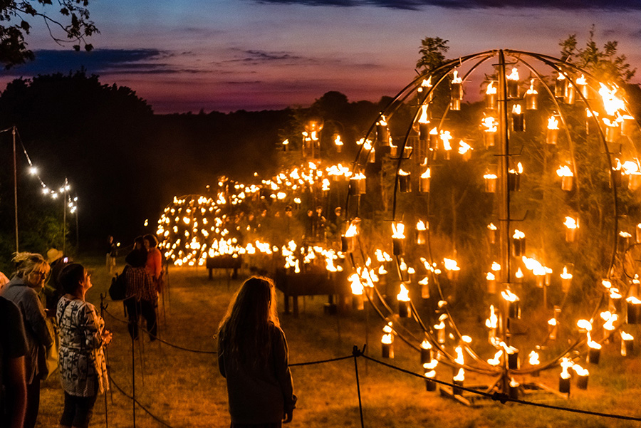 Fire Garden by Pa Boom at Timber Festival credit