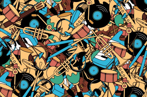 Can you find the microphone hidden within the musical instruments in under 60 seconds?